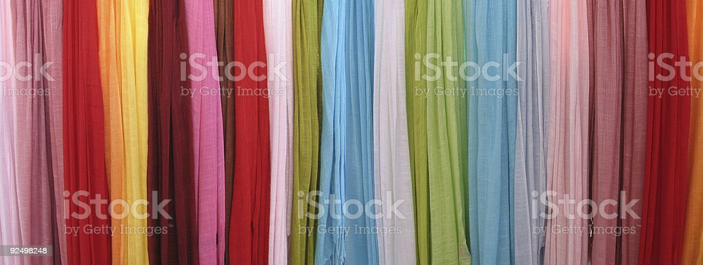Colored scarfs. royalty-free stock photo