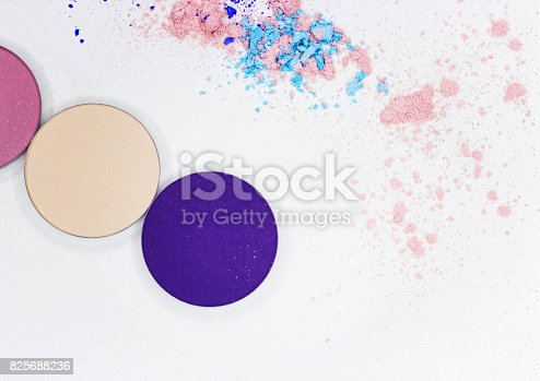 istock Colored shadow for professional make-up on white 825688236