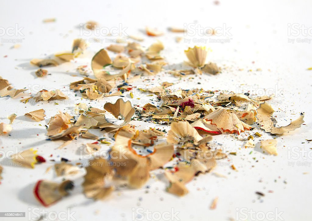 colored shavings royalty-free stock photo