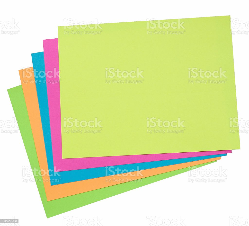 Colored sheets of paper royalty-free stock photo