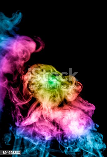 874895030istockphoto colored smoke isolated on a black background. fractal. spiral. 894958300