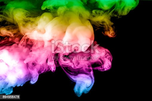 874895030istockphoto colored smoke isolated on a black background. fractal. spiral. 894958478