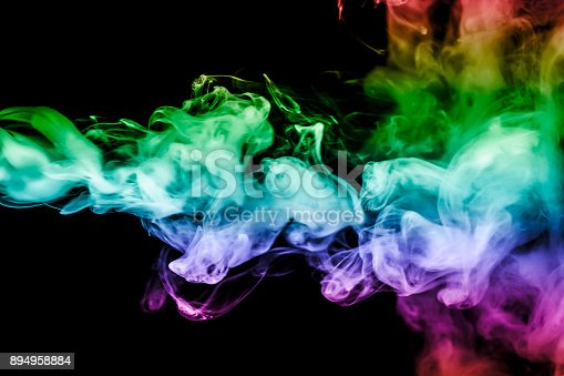 874895030istockphoto colored smoke isolated on a black background. fractal. spiral. 894958884