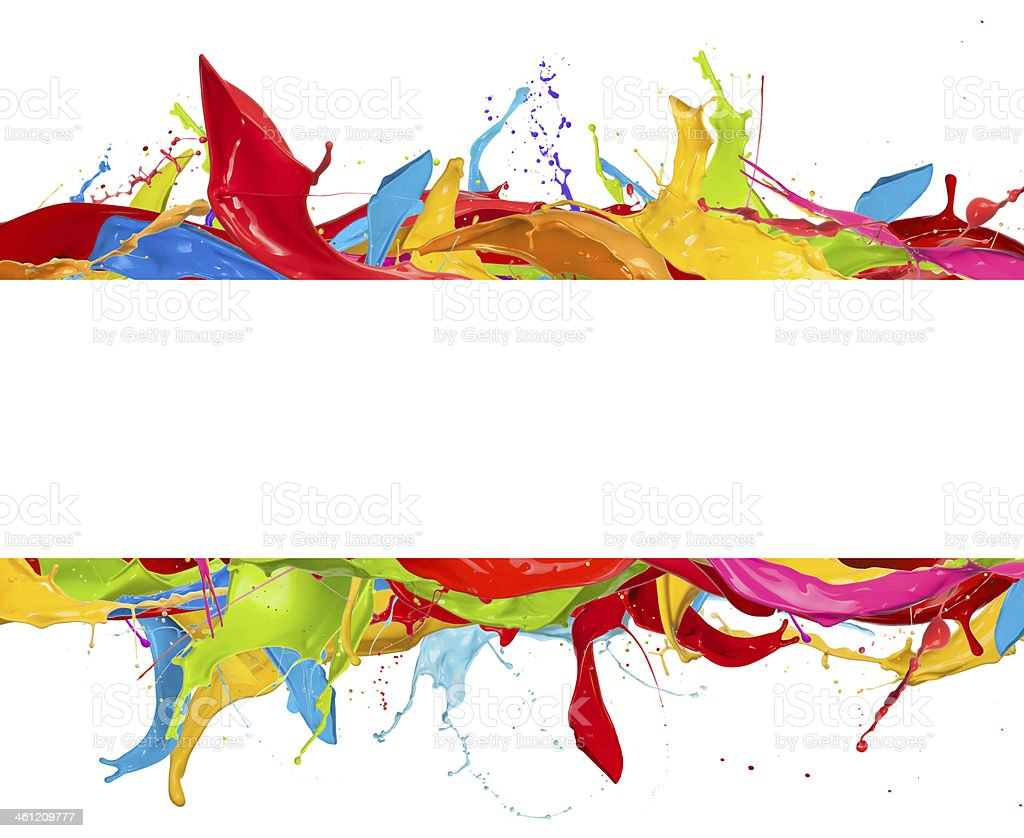 Colored splashes stock photo