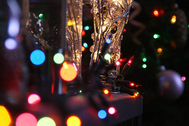Colored Strands of Light stock photo