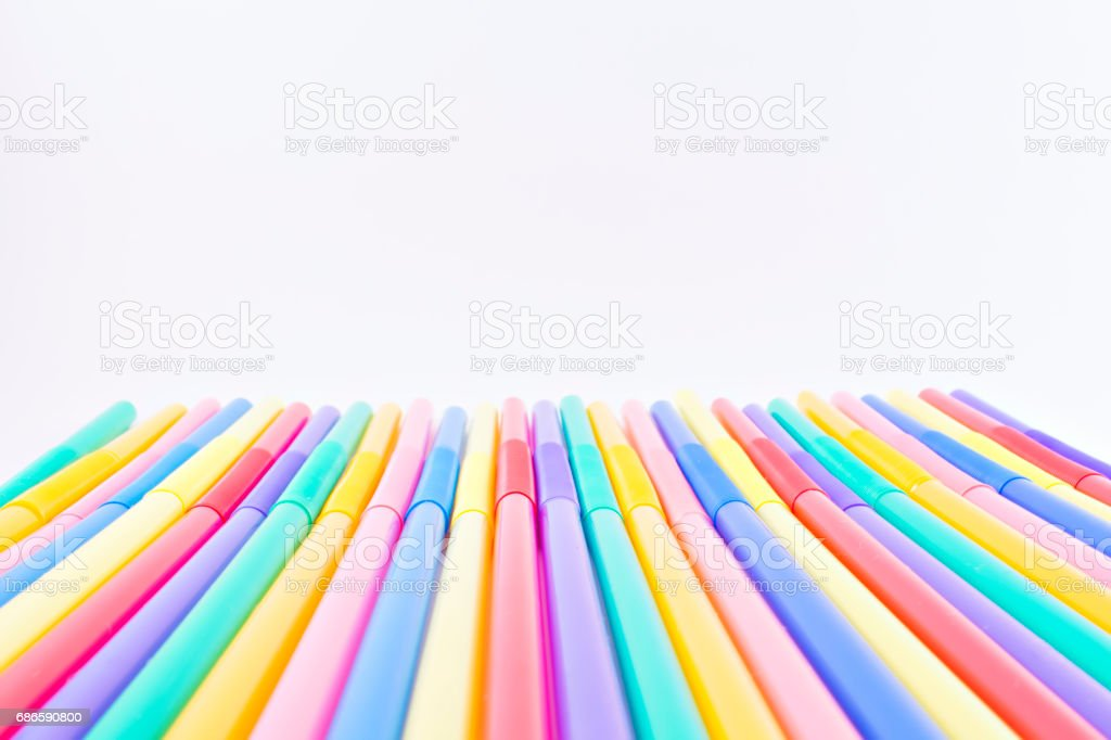 Colored straws. royalty-free stock photo