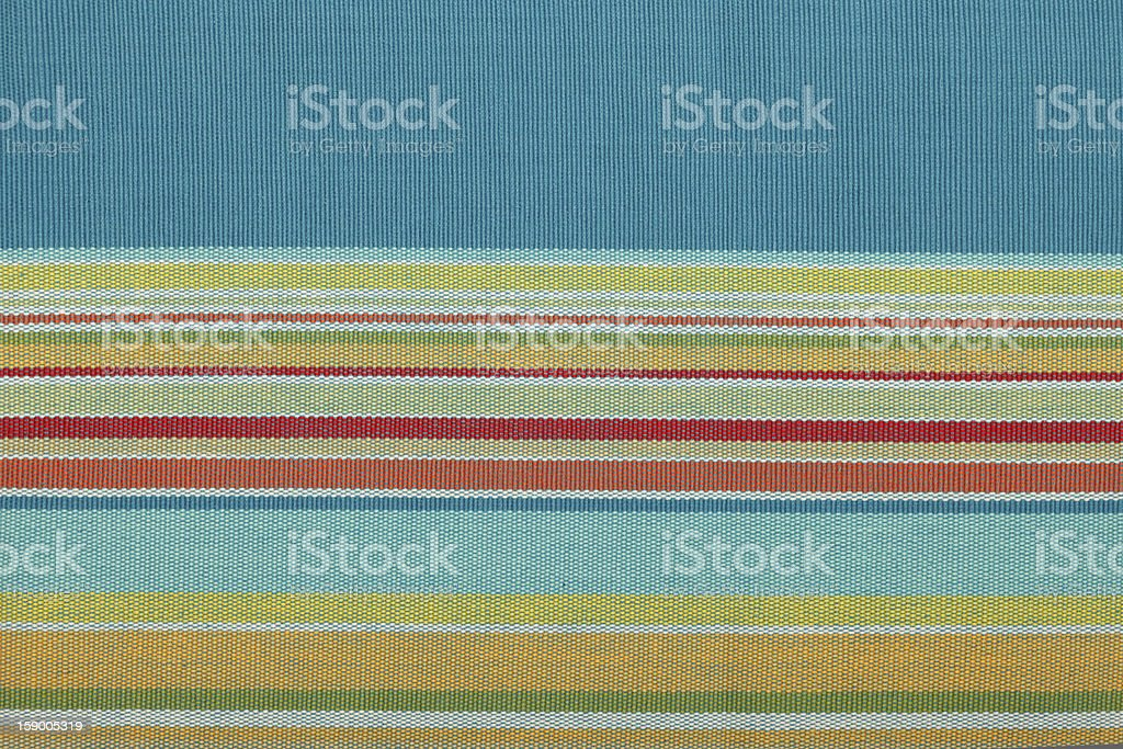 Colored striped mexican tablecloth, close-up stock photo