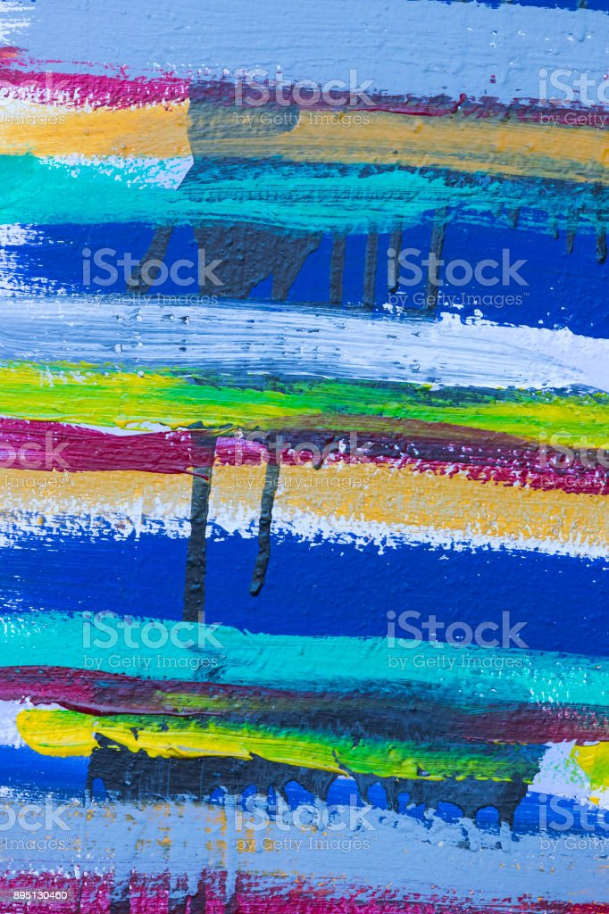 Colored stripes background of acrylic paint stock photo
