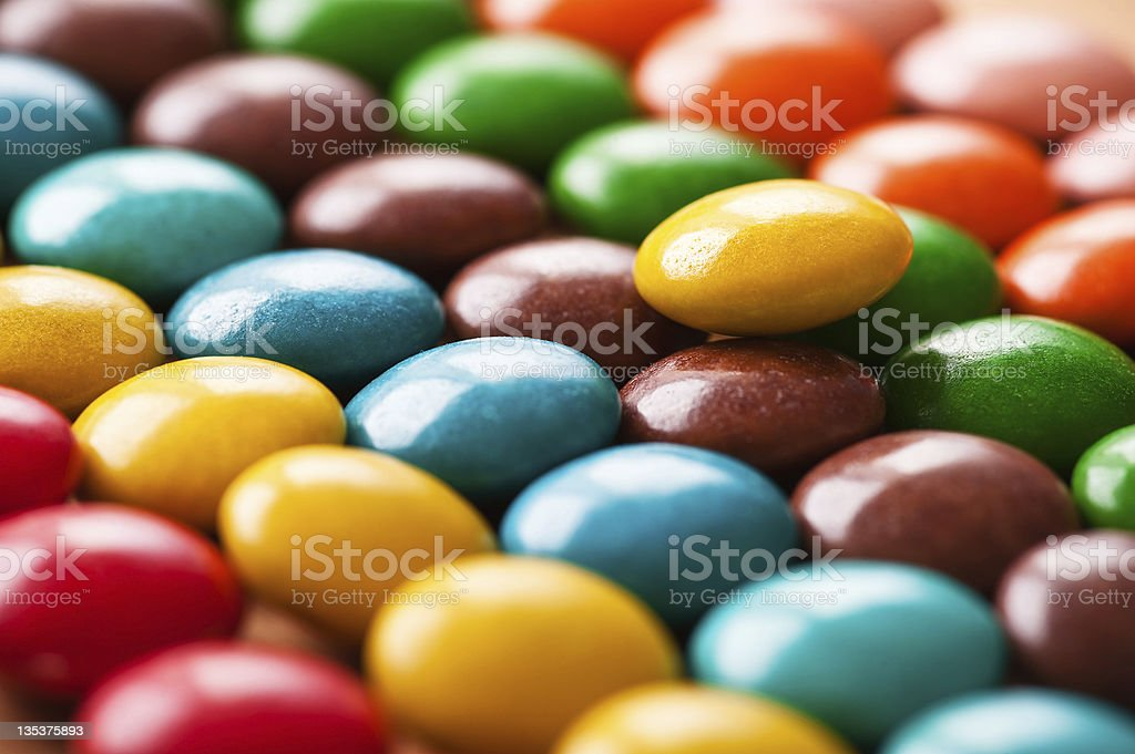 colored sweets stock photo