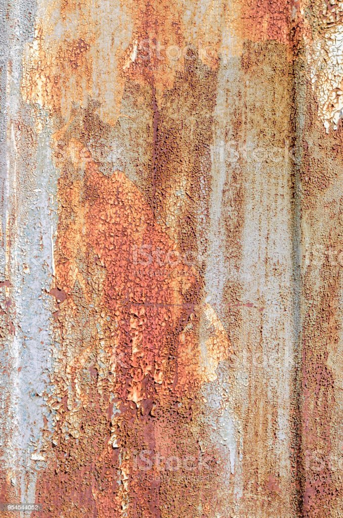 Colored texture brown yellow background cracked paint with divorces stock photo