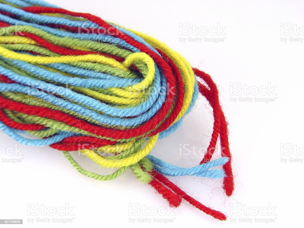 colored thread royalty-free stock photo