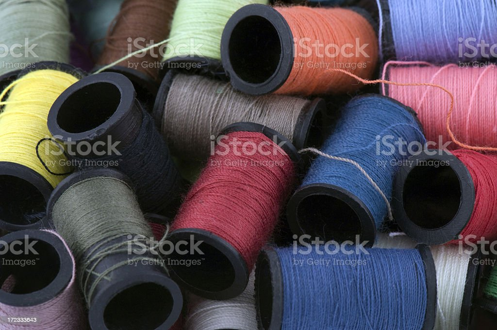 Colored Threads royalty-free stock photo