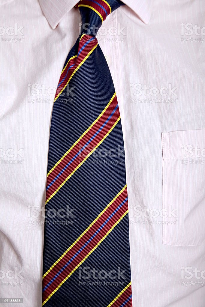 colored tie royalty-free stock photo