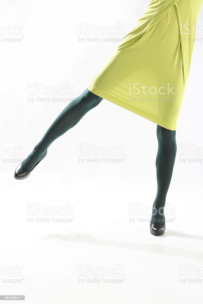 Colored tights stock photo