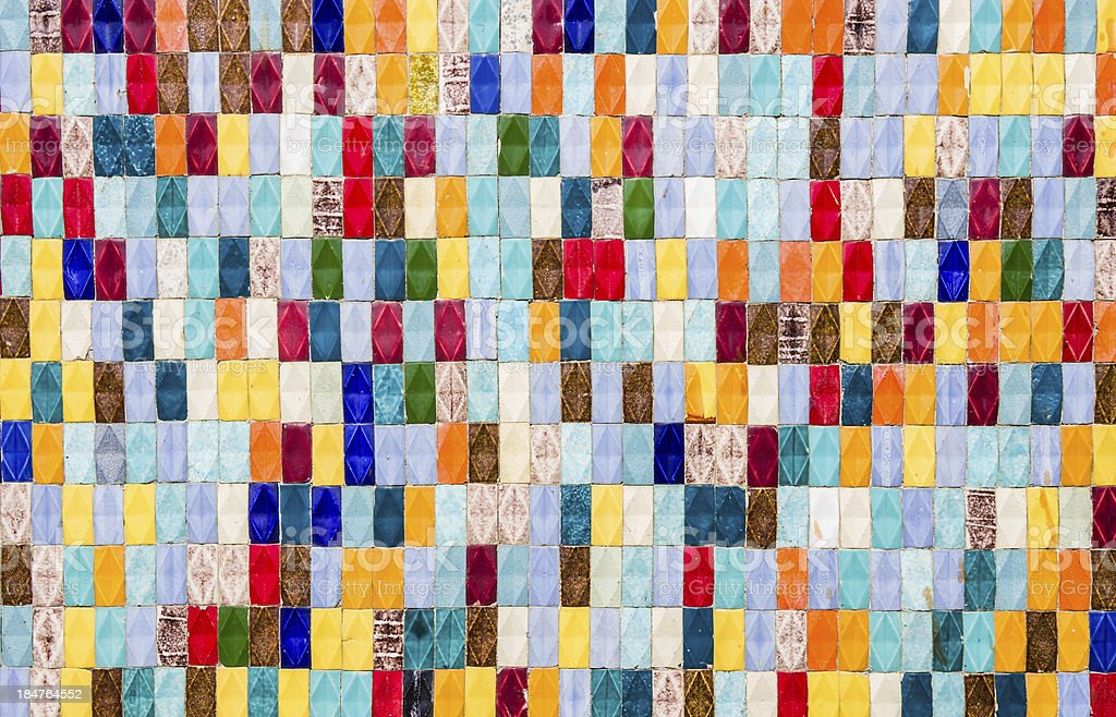 Colored Tiles - Textured Background stock photo