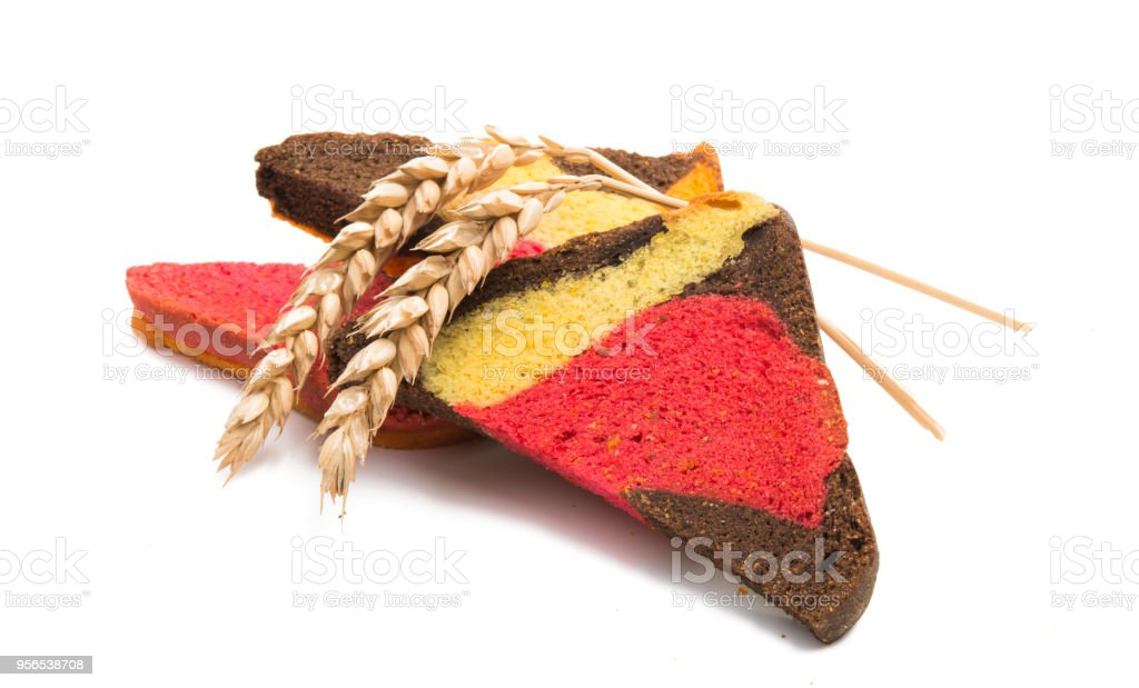 farbige Toast isoliert - Lizenzfrei Brotsorte Stock-Foto