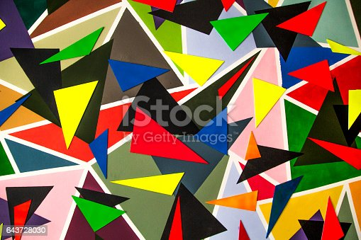 520740170 istock photo Colored triangles 643728030