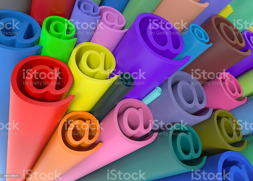 @ Colored Tubing royalty-free stock photo