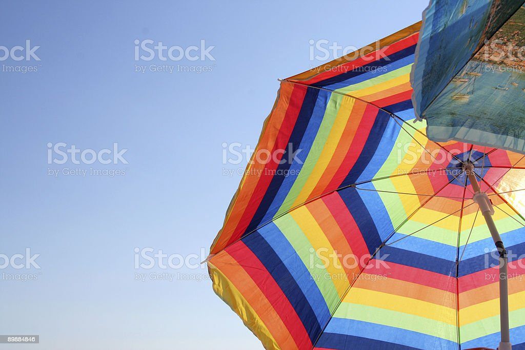 colored umbrellas royalty-free stock photo