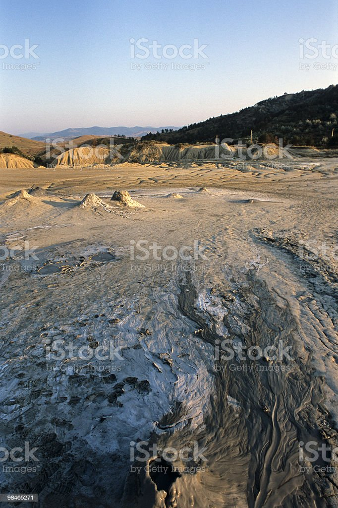 colored volcanoes royalty-free stock photo
