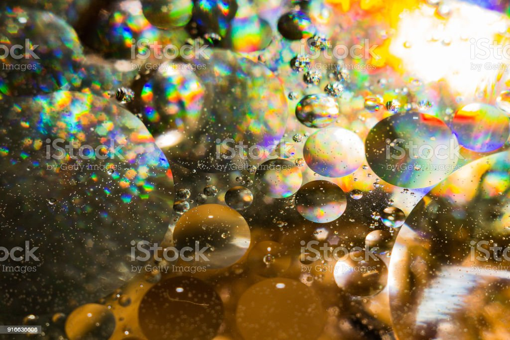 colored water bubbles stock photo