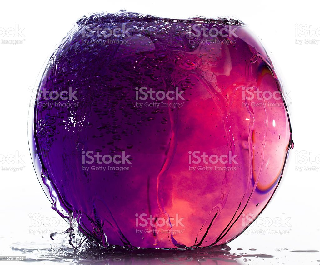 colored water in fishtank stock photo