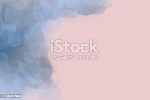 502422944 istock photo Colored watercolor abstraction, frame, banner, design, template, place for text.  Bright background.  Gentle gradient. 1209076903