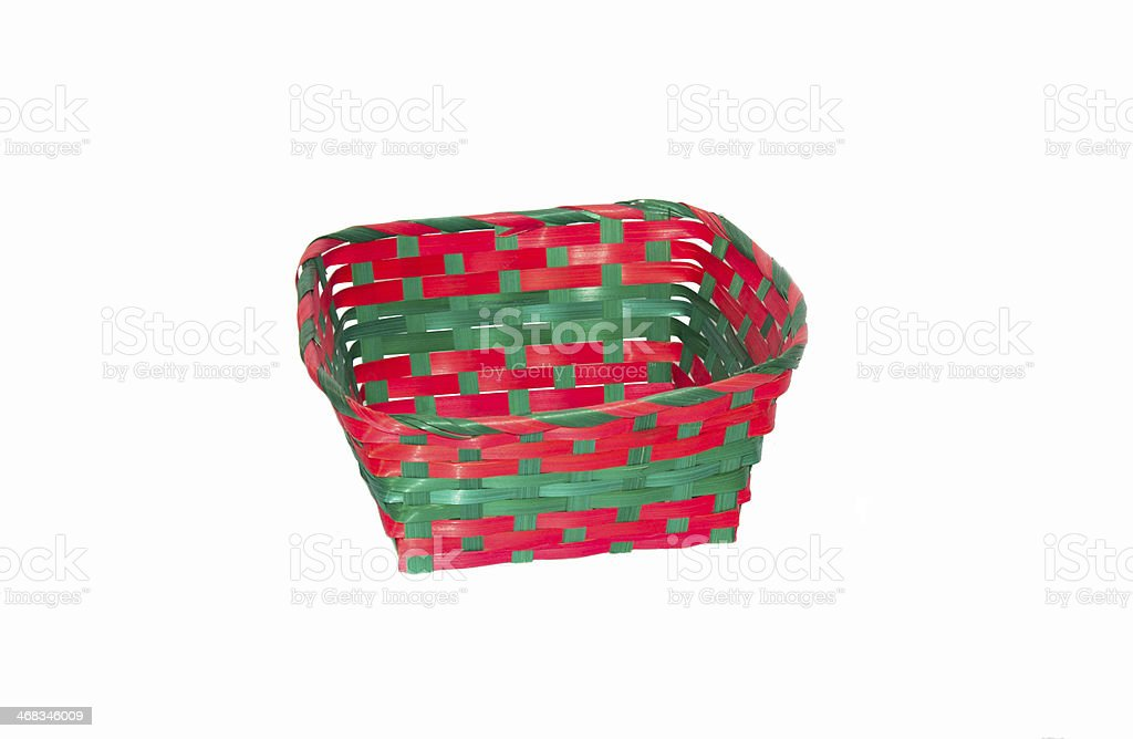 Colored wicker basket royalty-free stock photo