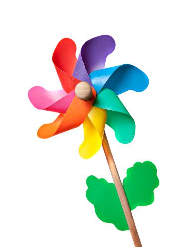 Colored wind wheel