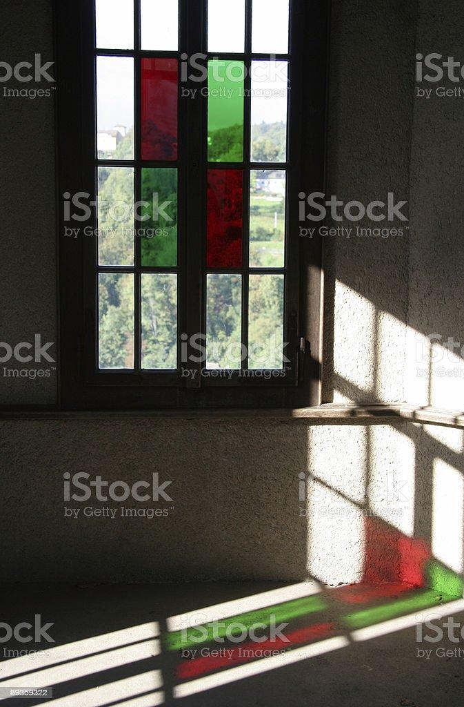 Kolorowe okno zbiór zdjęć royalty-free