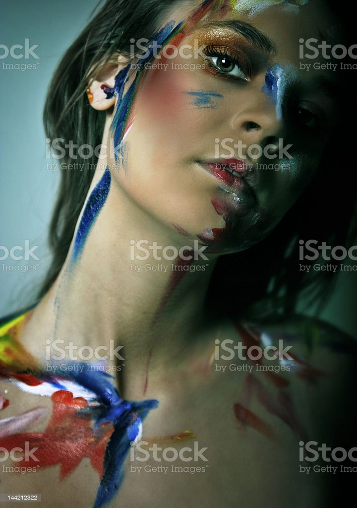 Colored woman´s look stock photo