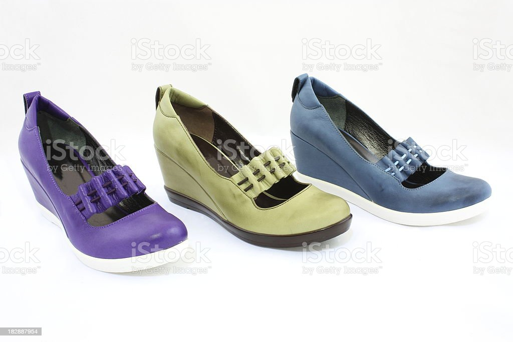 Colored women's shoes royalty-free stock photo