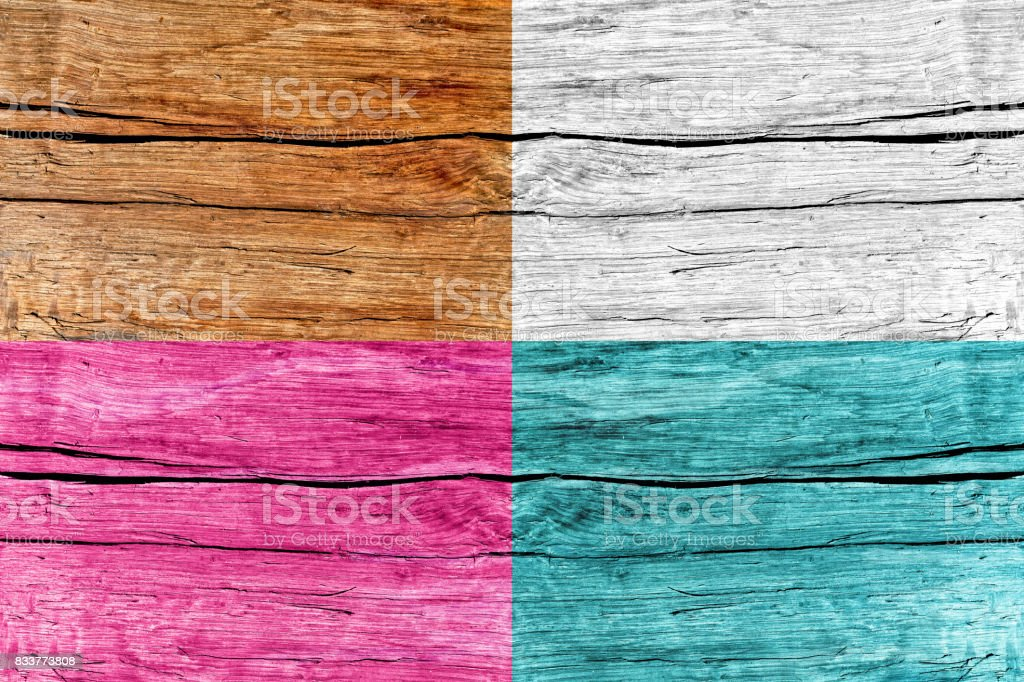 Colored wood textures set stock photo