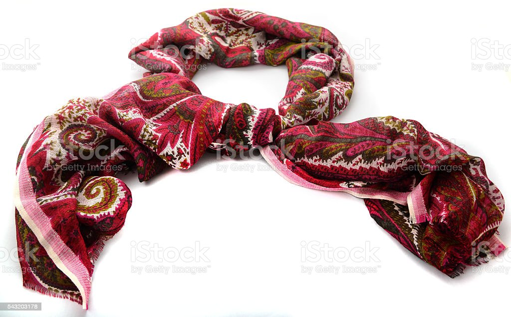 colored woolen scarf stock photo