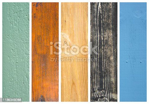 Coloreful wood collage, images put together ready for design