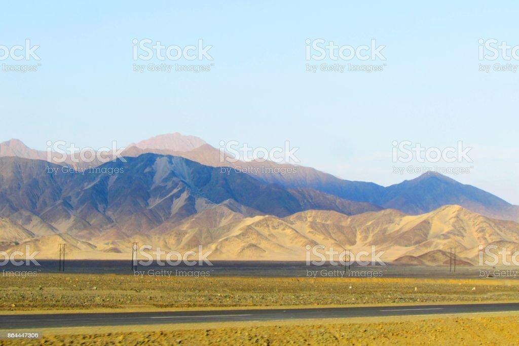 Colores del desierto stock photo
