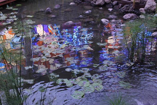 colores, piedras y plantas - monet bilder stock-fotos und bilder
