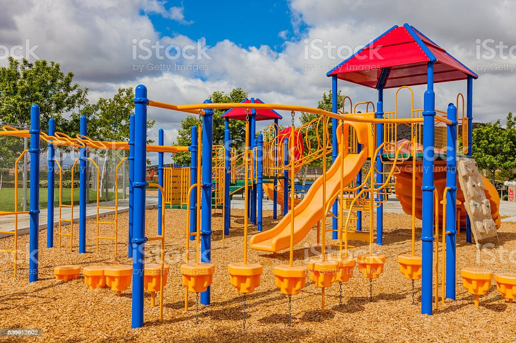 Colorfuf Playground in Southern California stock photo