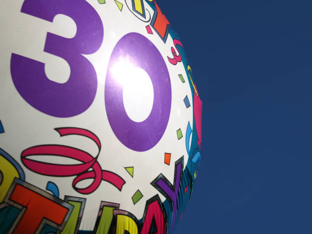 colorful 30th birthday balloon - 30 te urodziny zdjęcia i obrazy z banku zdjęć