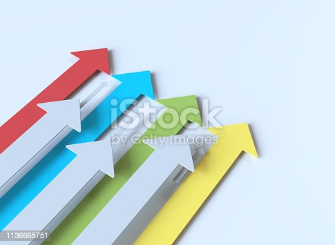 istock Colorful 3d arrows 1136665751