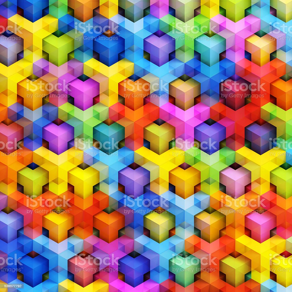 Colorful 3D boxes background stock photo