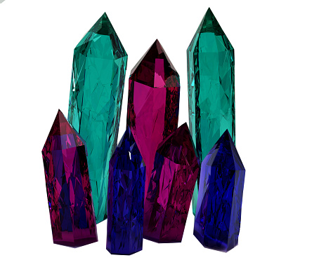 istock Colorful 3D model of crystals 542195538