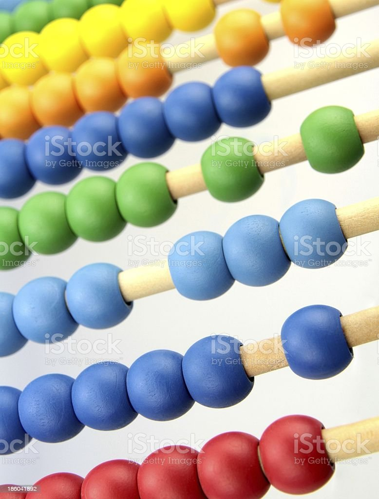 Colorful abacus beads royalty-free stock photo