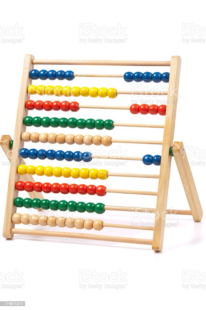 Colorful abacus on a white background stock photo