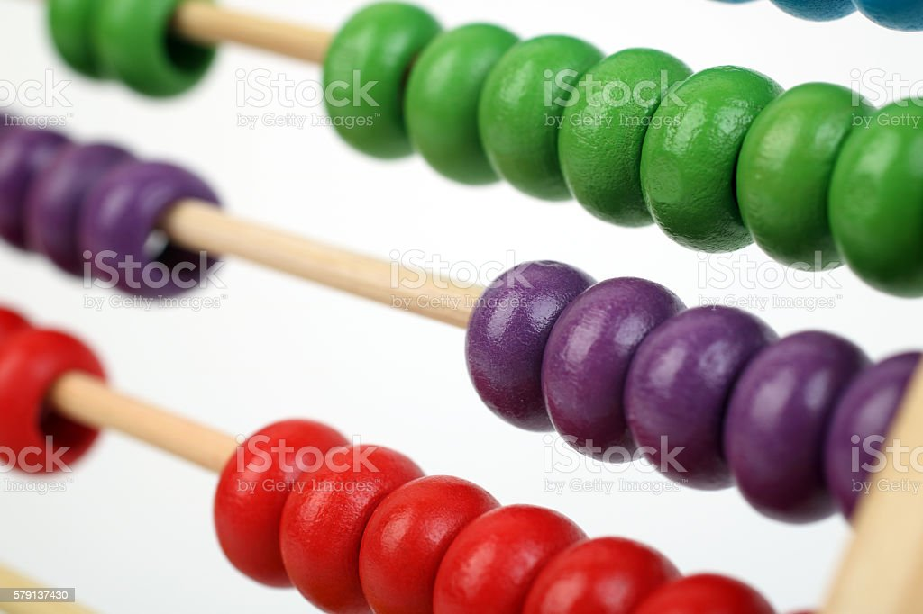 Colorful abacus stock photo