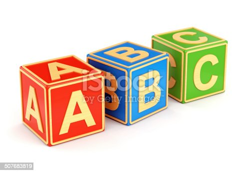 873187696 istock photo Colorful ABC cubes 507683819