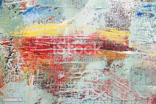 istock Colorful Abstract acrylic painting close-up 1049956578