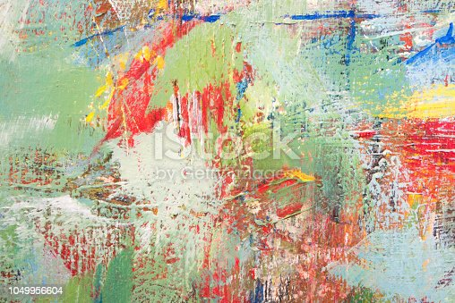 istock Colorful Abstract acrylic painting close-up 1049956604