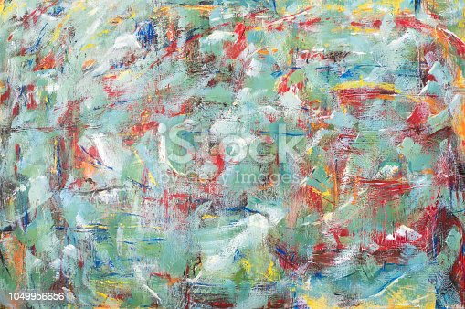 istock Colorful Abstract acrylic painting 1049956656