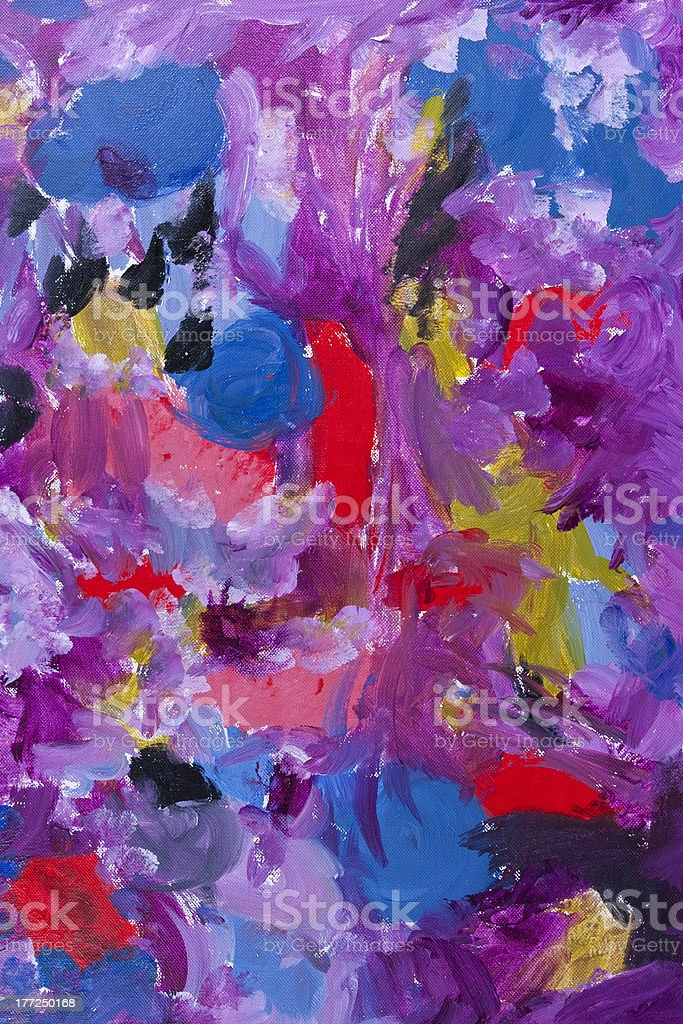 Colorful abstract art background. Hand painted canvas. stock photo